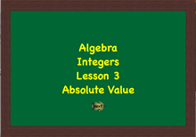 Integers Lesson 3 Link Image